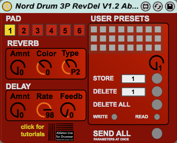 Nord Drum 3P Editor RevDel for Ableton Live version 1 2 by