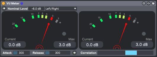 VU Meter version 1 0 1 by Funkatronics on maxforlive com